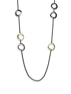IPPOLITA - Blackened Sterling Silver & 18K Gold Station Necklace