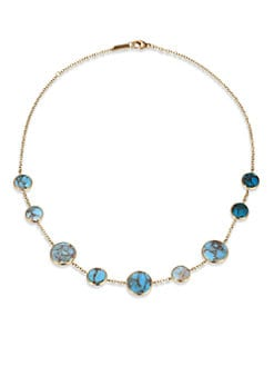 IPPOLITA - Bronze Turquoise & 18K Gold Necklace