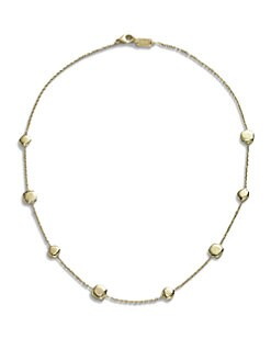 IPPOLITA - 18K Gold Round StationNecklace