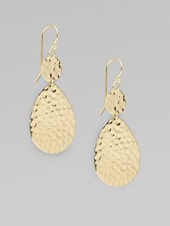 IPPOLITA - 18K Gold Hammered Earrings