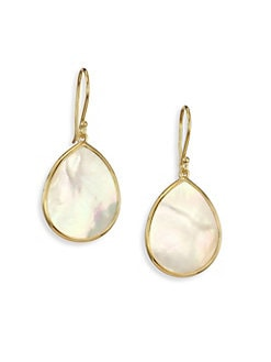 IPPOLITA - Mother-of-Pearl & 18K Gold Teardrop Earrings