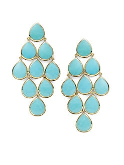 IPPOLITA - Turquoise & 18K Yellow Gold Cascade Earrings