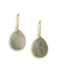 IPPOLITA - Black Shell & 18K Gold Drop Earrings