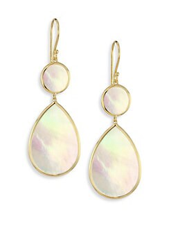 IPPOLITA - Mother-of-Pearl and 18K Yellow Gold Drop Earrings
