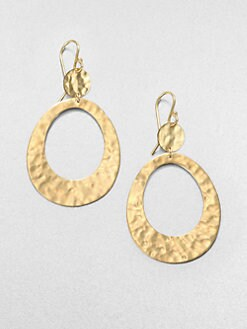 IPPOLITA - 18K Gold Open Oval Drop Earrings