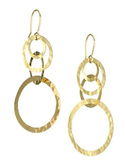 IPPOLITA - 18K Gold Hoop Drop Earrings