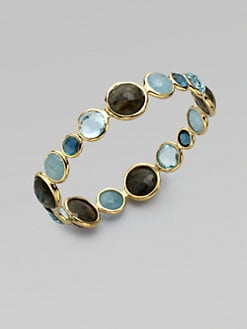 IPPOLITA - 18K Gold Semi-Precious Multi-Stone Bangle Bracelet