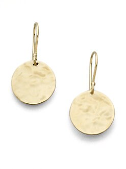IPPOLITA - 18K Gold Hammered Circle Earrings