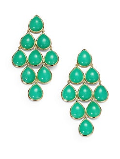 IPPOLITA - Mint Chrysoprase & 18K Gold Cascade Earrings