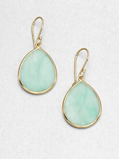 IPPOLITA - Mint Chrysoprase & 18K Gold Teardrop Earrings