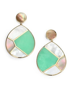 IPPOLITA - Semi-Precious Multi-Stone & 18K Gold Teardrop Earrings