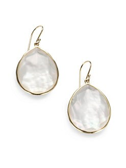IPPOLITA - Mother-Of-Pearl Doublet & 18K Gold Teardrop Earrings