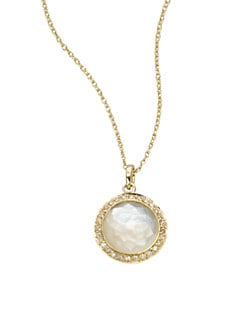 IPPOLITA - Diamond Accented Mother-Of-Pearl 18K Gold Pendant Necklace