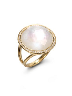 IPPOLITA - Diamond, Mother-of-Pearl and 18K Yellow Gold Ring