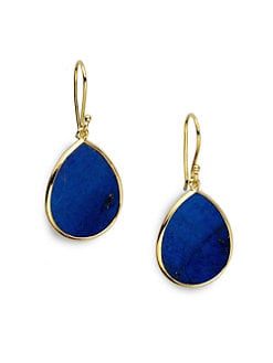 IPPOLITA - 18K Yellow Gold Lapis Mini Teardrop Earrings