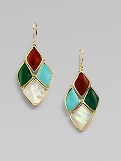 IPPOLITA - 18K Gold Semi-Precious Multi-Stone Cascade Earrings
