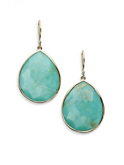 IPPOLITA - Turquoise, Rutilated Quartz and 18K Yellow Gold Earrings