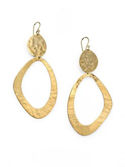 IPPOLITA - 18K Gold Large Snowman Drop Earrings