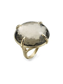 IPPOLITA - 18K Gold Pyrite Doublet Cocktail Ring