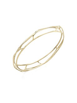 IPPOLITA - 18K Gold Open Frame Bangle Bracelet