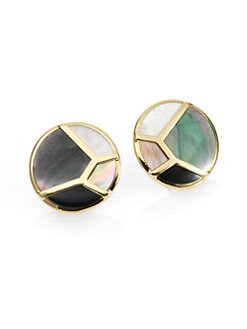 IPPOLITA - Semi-Precious Multi-Stone & 18K Gold Button Earrings