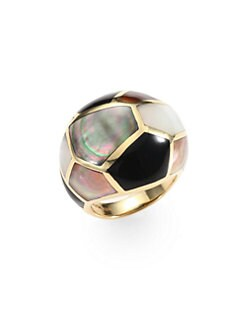 IPPOLITA - Semi-Precious Multi-Stone & 18K Gold Dome Ring