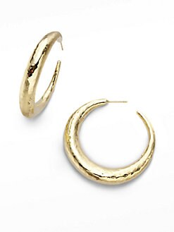 IPPOLITA - 18K Gold Medium Chunky Hoop Earrings