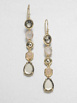 IPPOLITA - 18K Gold & Semi-Precious Multi-Stone Long Drop Earrings