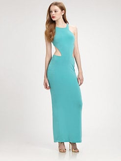 Just Cavalli - Open-Back Cutout Gown