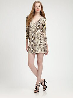 Just Cavalli - Python-Print Wrap Dress