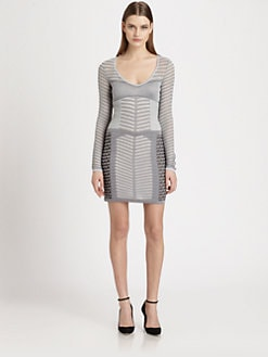 Missoni - Mixed-Pattern Metallic Open-Knit Dress
