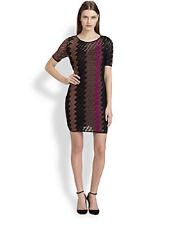 Missoni - Striped Zigzag Open-Crocheted Dress