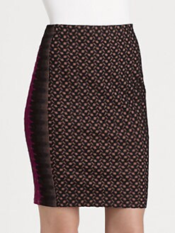 Missoni - Lace-Paneled Pencil Skirt