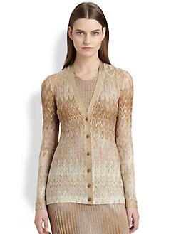 Missoni - Metallic Zigzag Crocheted Cardigan