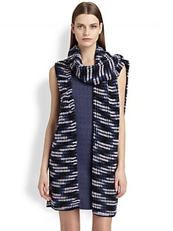 Missoni - Patterned Chunky-Knit Scarf Vest
