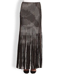 Missoni - Lurex Knit Pleated Maxi Skirt