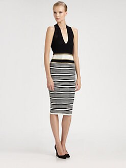 Missoni - Pointelle Knit Halter Dress
