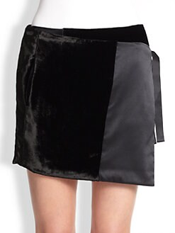 Missoni - Mini Velvet & Satin Wrap Skirt