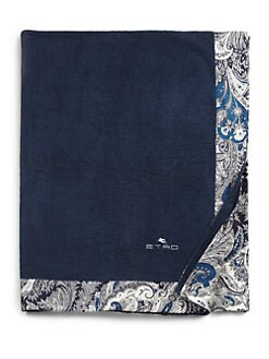 Etro - Satin-Trimmed Paisley Bath Towel