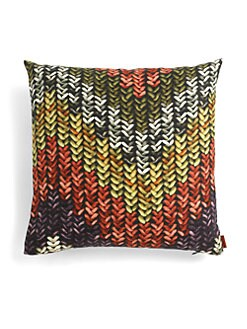 Missoni - Nancho Knit-Pattern Print Pillow