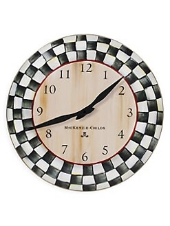 MacKenzie-Childs - Courtly Check Clock