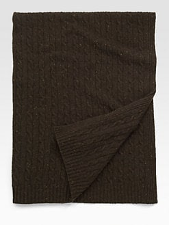 Sofia Cashmere - Cable Cashmere Throw