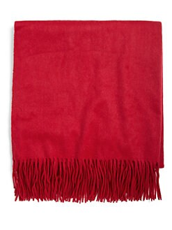 Sofia Cashmere - Woven Fringe Throw