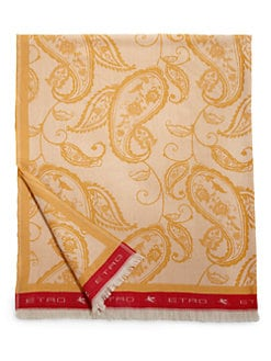 Etro - Plym Silk/Cotton/Linen Paisley-Patterned Throw