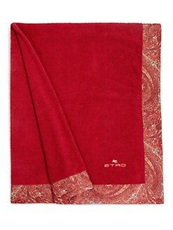 Etro - Paisley-Print Satin-Trimmed Cotton Bath Towel