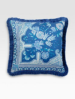 Etro - Bursa-Print Satin Accent Pillow
