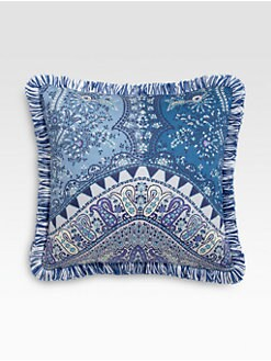Etro - Tacir-Print Satin Accent Pillow