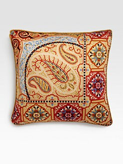 Etro - Bovery Paisley-Print Satin Accent Pillow