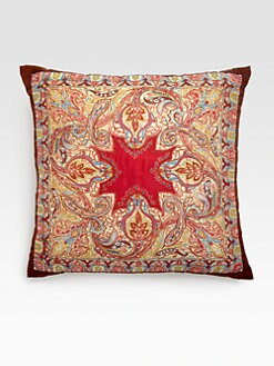 Etro - Otter Embroidered Silk Accent Pillow