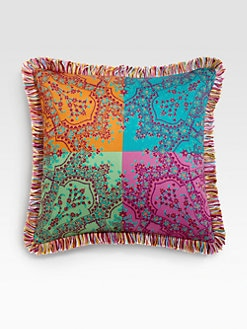 Etro - Kebir Colorblock-Print Satin Accent Pillow
